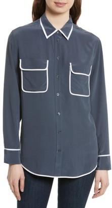 Women's Equipment Signature Silk Shirt $228 thestylecure.com