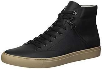 TCG Men High Top Leather Sneaker Bomber Jacket Style Zipper Pocket