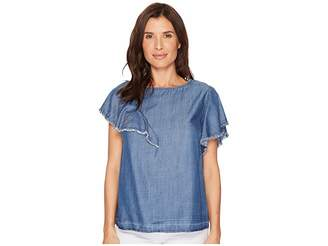 Bobeau B Collection by Tommie Tencel Ruffle Blouse Women's Blouse