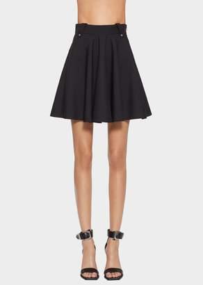 Versace Wool Blend Skater Skirt
