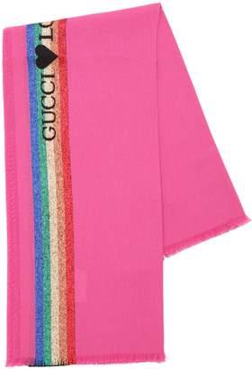 Gucci Loved Cotton & Lurex Scarf