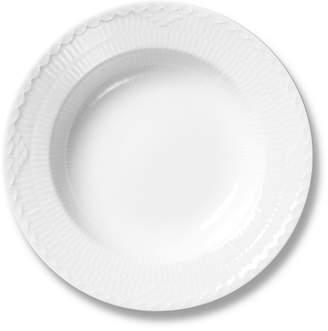 Royal Copenhagen White Fluted Half Lace Soup Plate