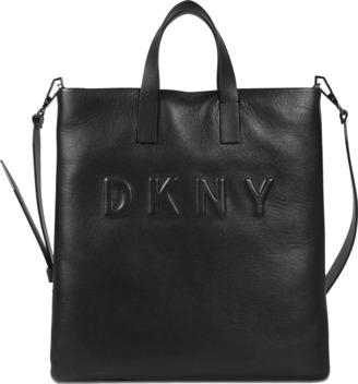 DKNY Debossed Logo tote bag $350 thestylecure.com