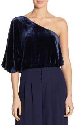 Alice + Olivia Craven One-Shoulder Top