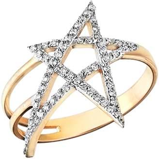 kismet by milka Struck Doodle Star Diamond Ring