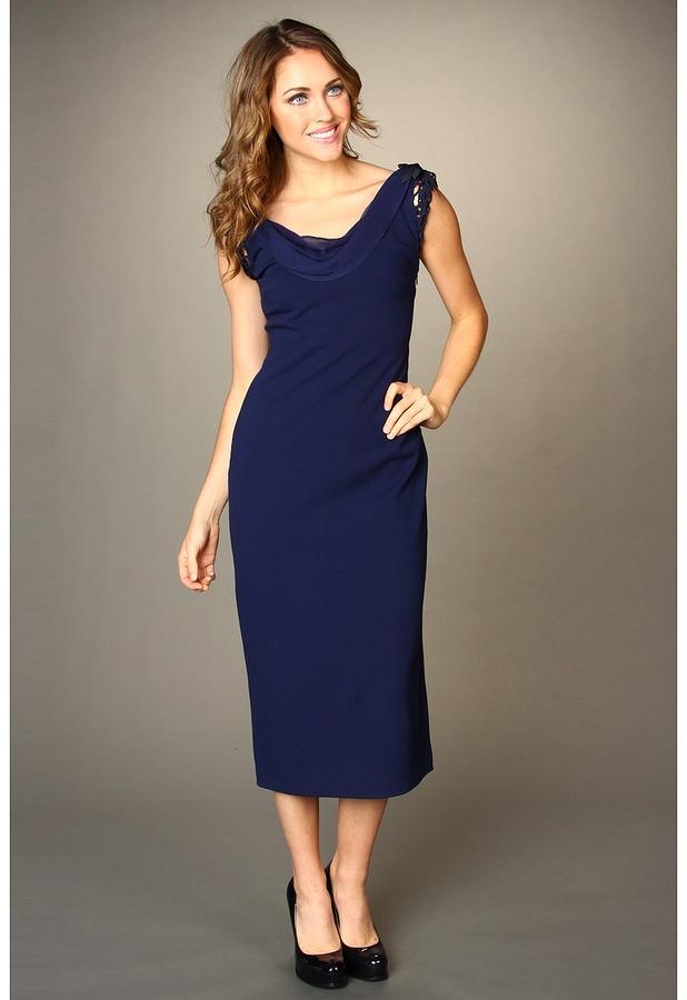 Elie Tahari Sheena Dress (Blue Navy) - Apparel