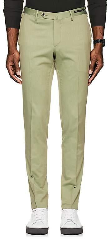 Men's Virgin Wool-Cotton Super-Slim Trousers