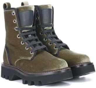 Brunello Cucinelli Velvet ankle boots