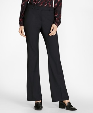Brooks Brothers Petite Wool Wide-Leg Pants