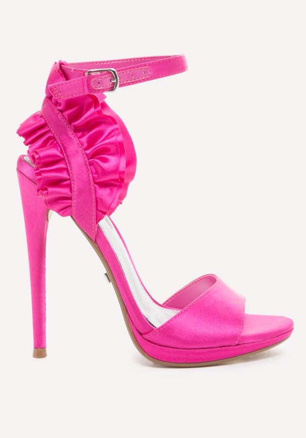 Elle Satin Ruffle Sandals