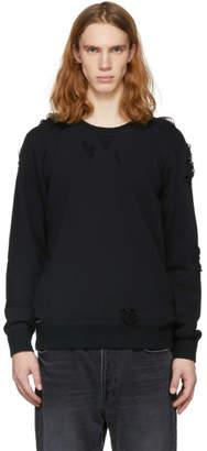 Miharayasuhiro Black Damaged Sweatshirt