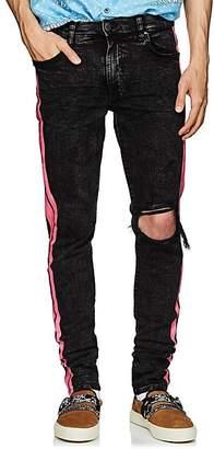 Amiri Men's Broken Skinny Track Jeans - Black