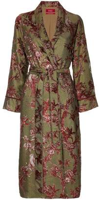 F.R.S For Restless Sleepers floral embroidered robe coat