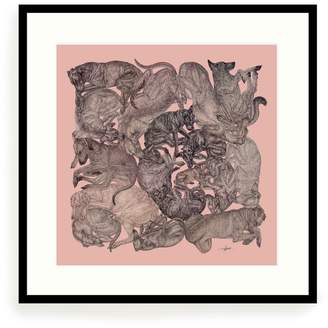 Arlette Ess Sleeping Dogs Art Print Rose Quartz Small