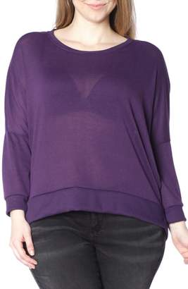SLINK Jeans Dolman Sleeve Ribbed Pullover