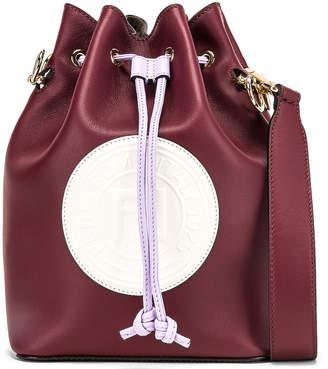 Fendi Mon Tresor Colorblock Crossbody Bag in Burgundy & White | FWRD