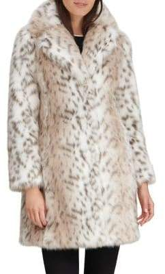Karl Lagerfeld Paris Faux Fur Walker Coat