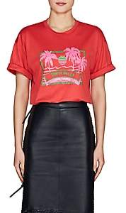 "Fendi Women's ""Trevi Falls"" Cotton Jersey T-shirt - Red"