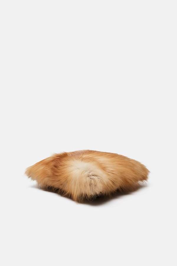 Tenfold New York Tenfold New York Red Fox Fur Pillow