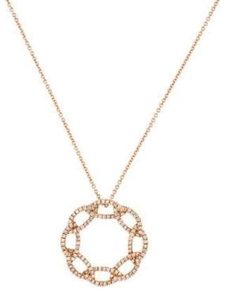 Sofer Jewelry 14K Diamond Interlocking Circle Pendant Necklace rose Sofer Jewelry 14K Diamond Interlocking Circle Pendant Necklace