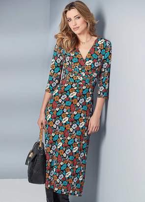 Kaleidoscope Jersey Midi Dress