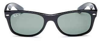 Ray-Ban Men's Polarized New Wayfarer Sunglasses, 52mm