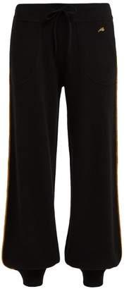 Bella Freud Marrakech Metallic Piped Cashmere Track Pants - Womens - Black Multi