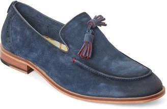 Steve Madden Navy Tassler Suede Loafers