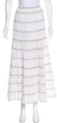 eskandar Striped Midi Skirt