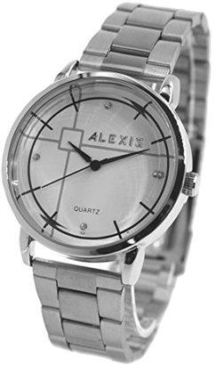 Alexis usfw824qホワイトダイヤルPNP Shinyシルバー時計ケースWater Resistメンズレディースバングル腕時計