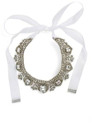 Women's Nina 'Glamorous' Tie Collar Necklace $145 thestylecure.com