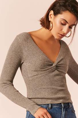 Forever 21 Heathered Twist-Front Top