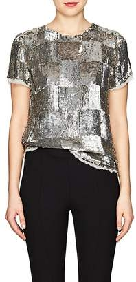 retrofête Women's Anita Checked Sequined Top