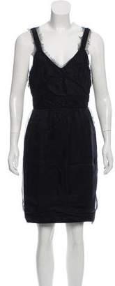 Chanel Raw-Edge-Trimmed Silk Dress