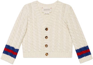 Baby cable-knit cotton cardigan $280 thestylecure.com