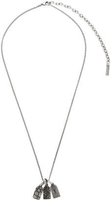 Saint Laurent Silver 3 Plate Pendant Necklace