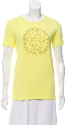 Versace Embellished Medusa Top