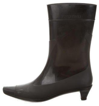 Miu MiuMiu Miu Rubber Rain Boots