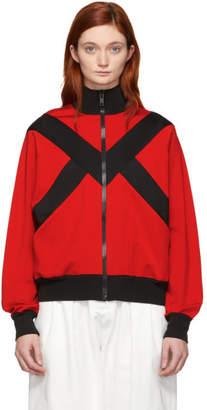 Givenchy Black and Red Two-Toned Zipped Jacket