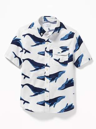 Old Navy Classic Built-In Flex Oxford Shirt for Boys
