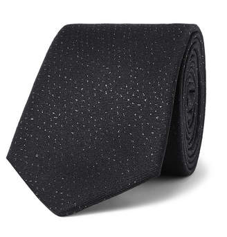 Lanvin 7cm Slub Silk-Blend Tie - Men - Black
