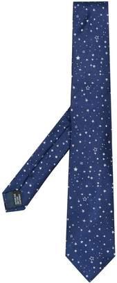 Lanvin star embroidered tie