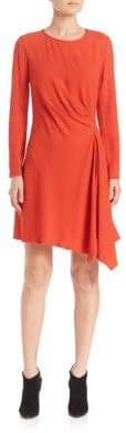 Natori Crepe Side Drape Dress