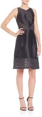 Theia Sleeveless Short Dress
