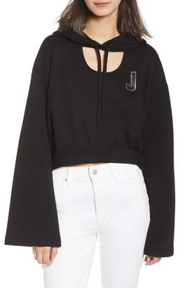 Juicy Couture Glitter Embellished Logo Hoodie