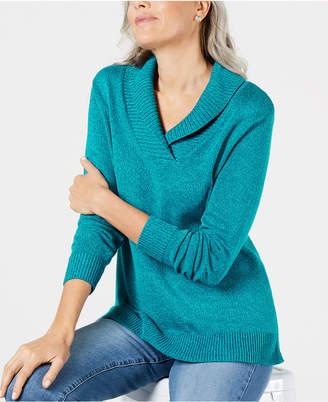 Karen Scott Shawl-Collar Sweater
