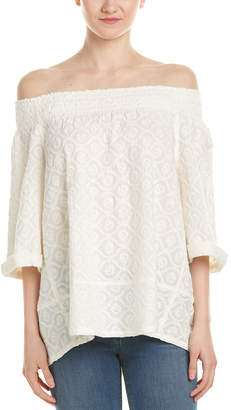 Current/Elliott The Smocked Top