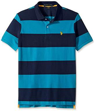 U.S. Polo Assn. Men's Slim Fit Stripe Short Sleeve Pique Shirt