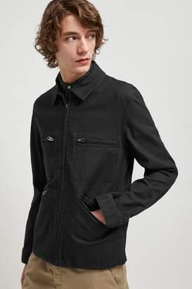 French Connenction Slub Stretch Twill Field Jacket