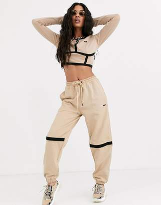Criminal Damage relaxed sweatpants with open knee two-piece